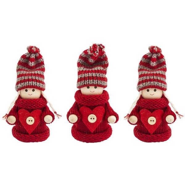 Winter-Püppchen, Ina & Elias, 10cm hoch, 3 Stück