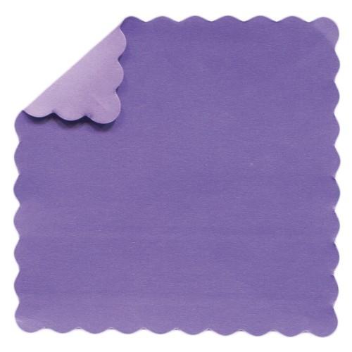 DuoColor Stanz-Faltpapiere, 5 x 5 cm, violett, Wellenrand, 200 Blatt