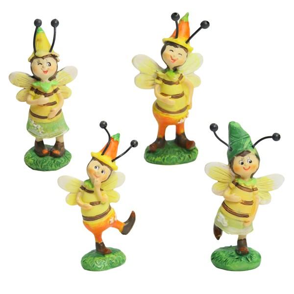 Deko-Bienen-Figuren, 7 cm, 4er Set