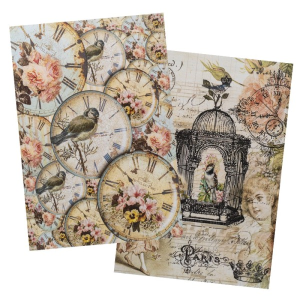 Reispapiere, Nostalgie 13, DIN A4, 2 Designs