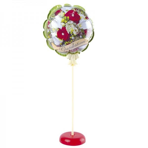 Zauber-Ballon mit Stab & Podest, Ø 11,5 cm, 31,5 cm hoch, Gratulation