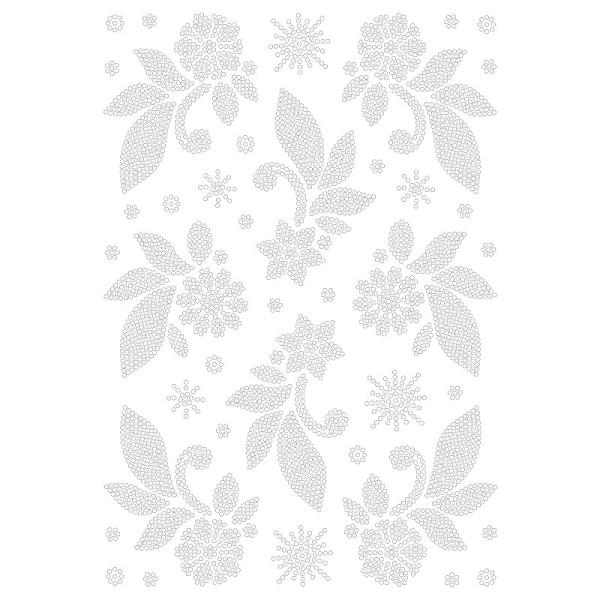 Bügelstrass-Design, DIN A4, klar, Blütenzweige 2