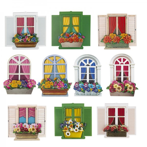 3-D Motive, Fenster & Blumenkästen, 7-10cm, 10 Motive