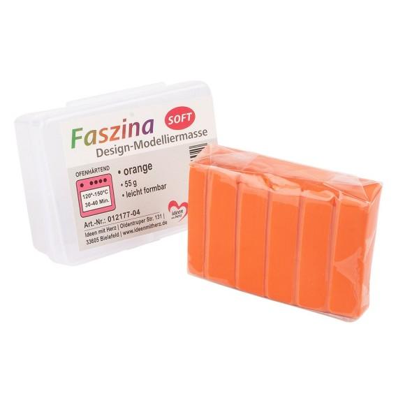 Faszina Soft, Design-Modelliermasse, orange, 55g, leicht formbar, ofenhärtend