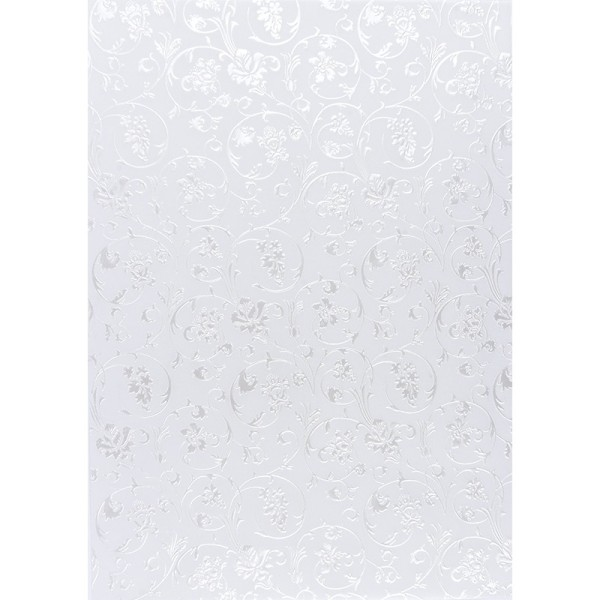 Transparentpapiere, Nova Noblesse 3, mit Top-Prägung & Perlmuttlack, DIN A4, 5 Bogen, weiß