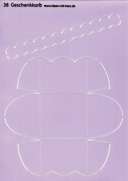 """Design-Schablone Nr. 38 """"Geschenkkorb"""", DIN A4"""