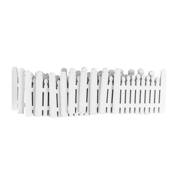 Gartenzäune, Holz, 8,4cm x 6,5cm x 0,5cm, weiß, 11 Stück