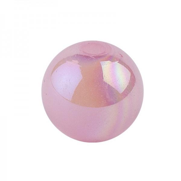 Perlen, irisierend, Ø 8mm, rosa-irisierend, 100 Stk.