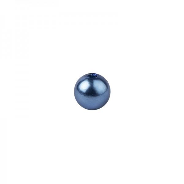 Perlen, Perlmutt, Ø 10mm, blau, 50 Stück