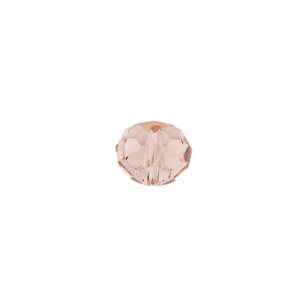 Perlen, Rondelle, facettiert, 0,6cm x 0,4cm, rosé, 30 Stück