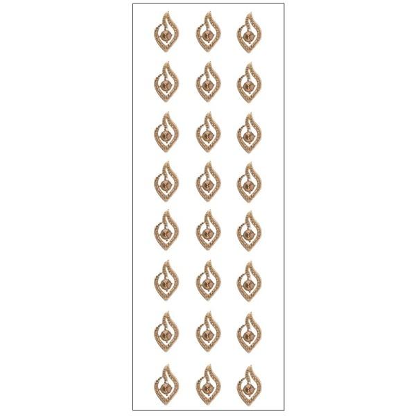 Kristallkunst, Schmuckstein 3, selbstklebend, 10cm x 30cm, braun