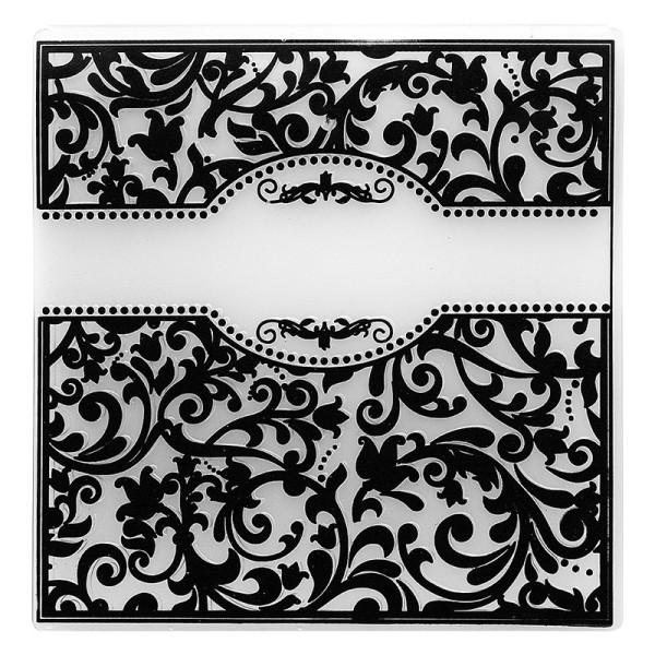 Prägeschablone, Ornamentik 9, 14,5cm x 14,5cm