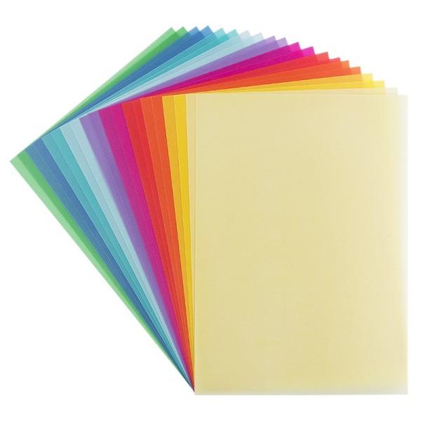 Transparentpapiere, DIN A4, 10 verschiedene Farben, 200 g/m², 20 Stück