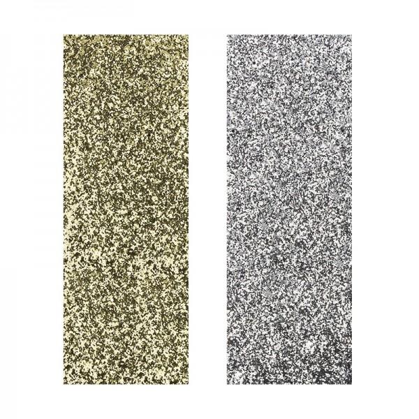 "Stoffe Royal ""Glamour-Style"", selbstklebend, 10 x 29 cm, 2 Stück, gold & silber"