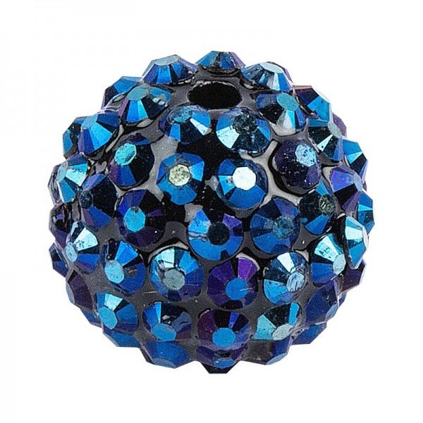 Kristall-Perlen, Ø 18mm, nachtblau, 10 Stück