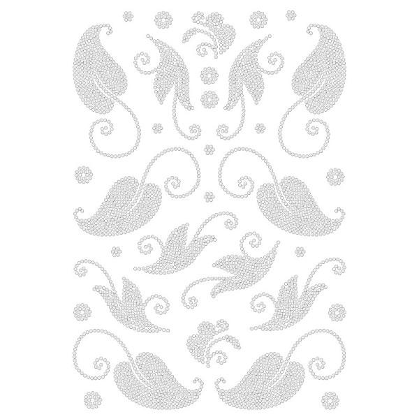 Bügelstrass-Design, DIN A4, klar, Blätter 1