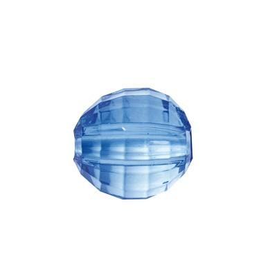 Facetten-Perlen, transparent, Ø8mm, 100 Stück, marine