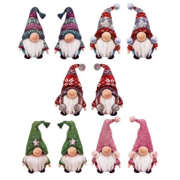 3-D Motive, Wichtel im Winter, 5-9,5cm, 5 Designs jeweils gespiegelt, 10 Motive