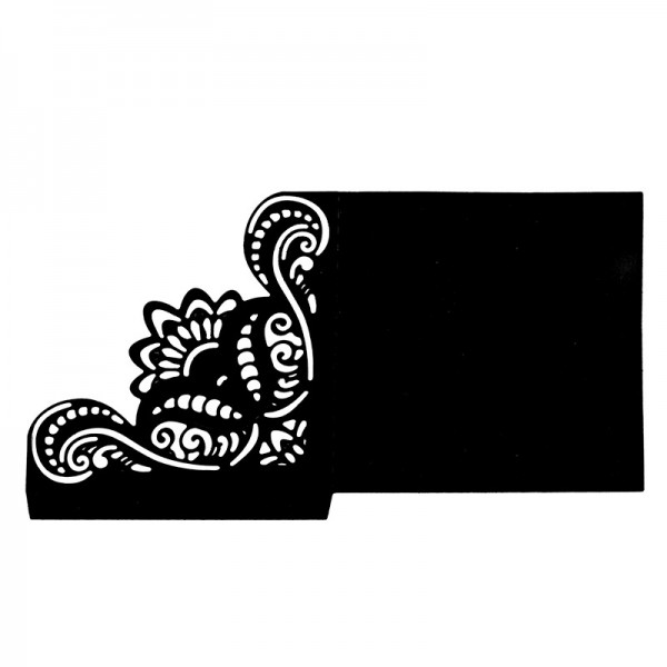 Stanzschablone, Einstecktasche 1, 15cm x 8,2cm