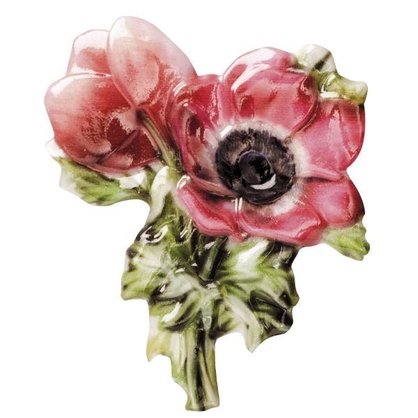 "Wachsornament ""Blüten de luxe"" 7, farbig, geprägt, 6-7cm"