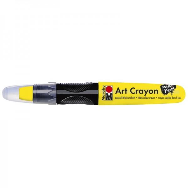 Marabu Art Crayon/Aquarell-Wachsmalstift, wasserlöslich, gelb