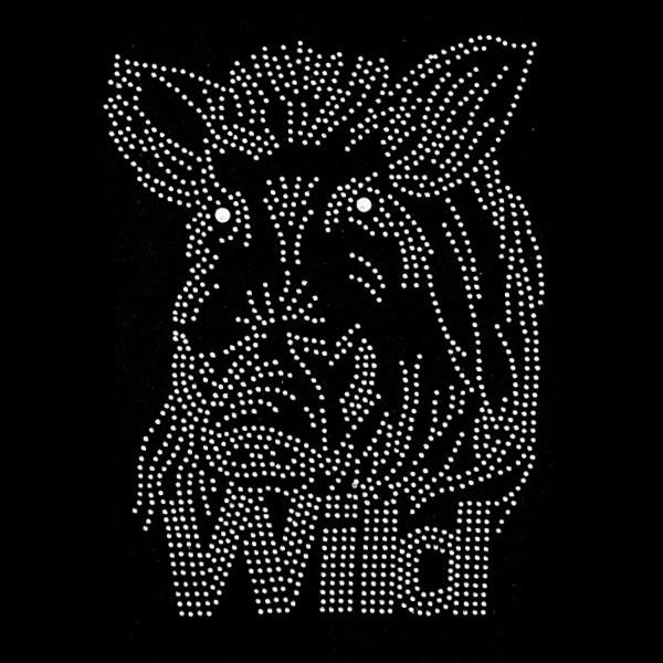 Bügelstrass-Design, DIN A4, Wildschwein