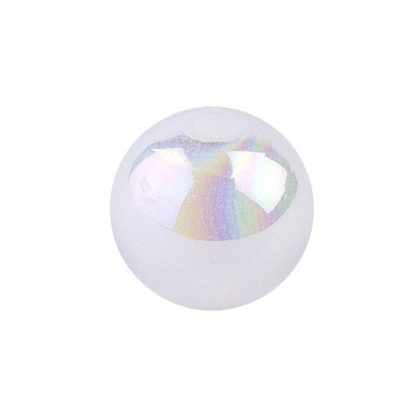 Perlen, irisierend, Ø 6mm, weiß-irisierend, 150 Stk.