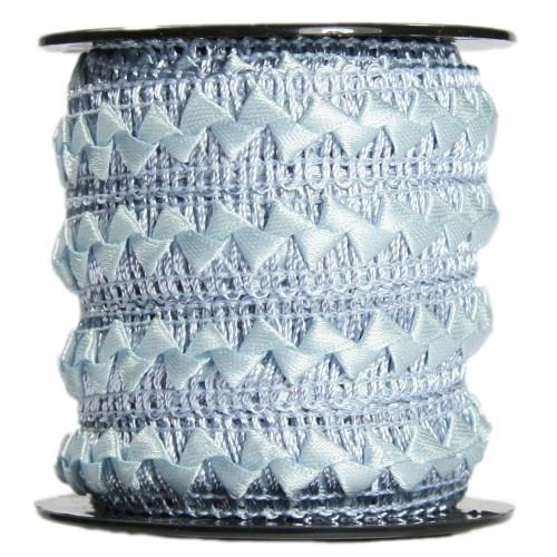 Bordürenband, Stoff, edle Dreiecke, 17mm x 10m, grau