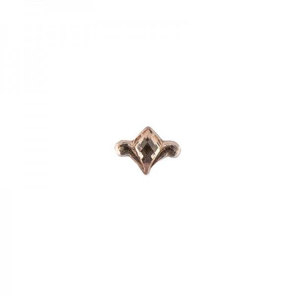 Ornament-Glitzersteine, 50 Stück, Design 8, lachs