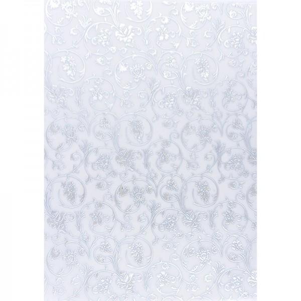 Transparentpapiere, Nova Noblesse 3, mit Top-Prägung & Perlmuttlack, DIN A4, 5 Bogen, taubenblau