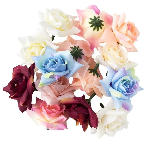"""Deko-Blüten """"Rose"""", Ø 5cm, 18g, verschiedene Farben"""