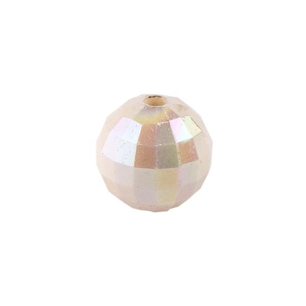 Perlen, facettiert, Ø 6mm, creme-irisierend, 150 Stk.