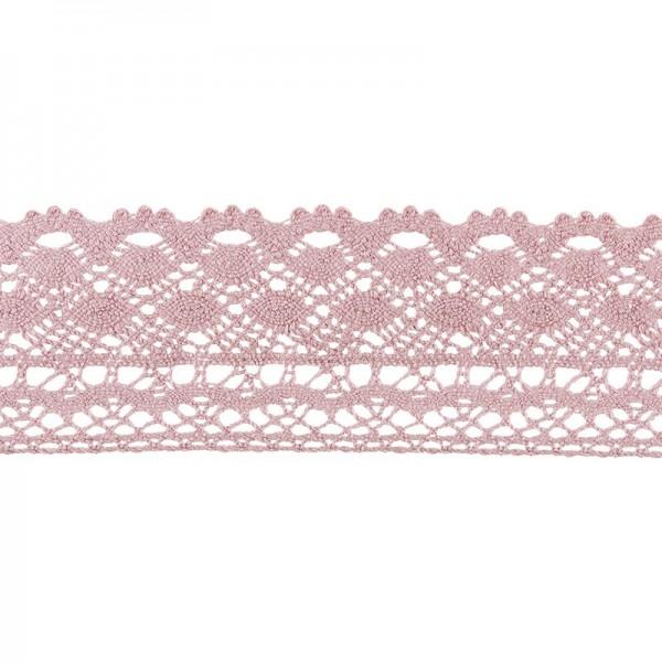 Häkelspitze Design 2, 3,7cm breit, 2m lang, altrosa