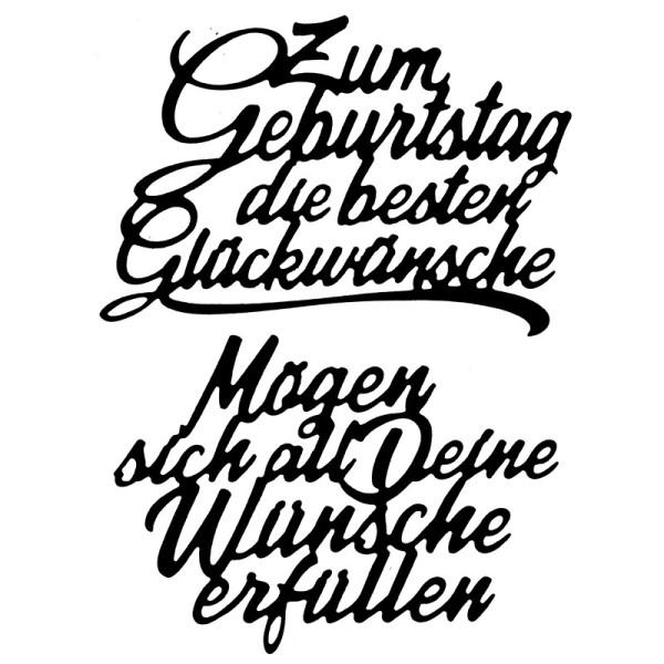 Stanzschablonen, Schriften, Geburtstagswünsche 11, 2 Stück