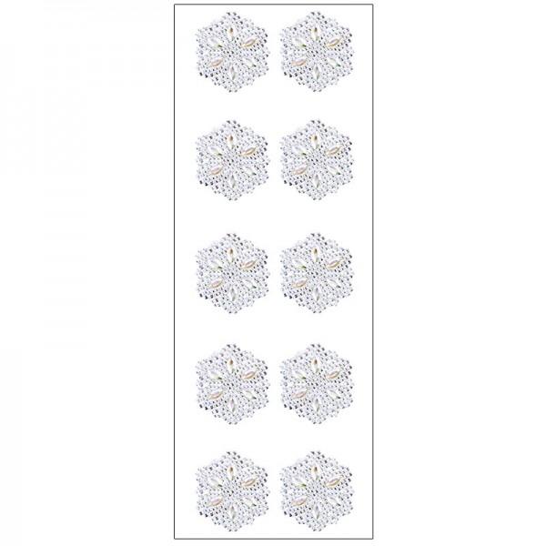 Kristallkunst, Ornament 3, selbstklebend, 10cm x 30cm, klar irisierend