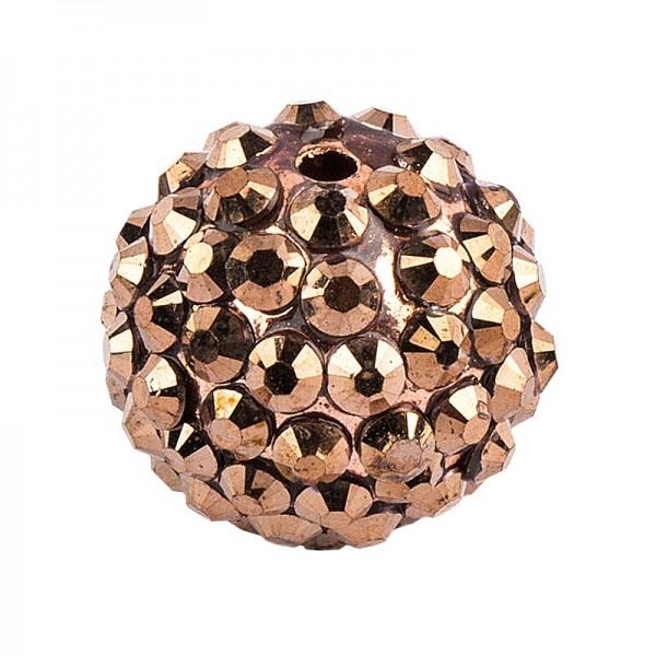 Kristall-Perlen, Ø 10mm, bronze, 10 Stück