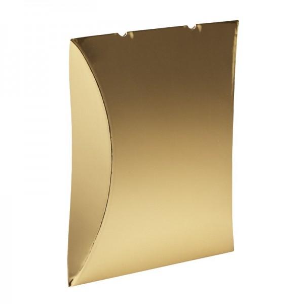Kissentaschen, 10 x 11,4 cm, Spiegelkarton, gold, 10 Stück