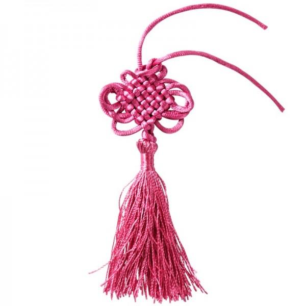Quasten, 5er Set, 12,5 cm lang, pink
