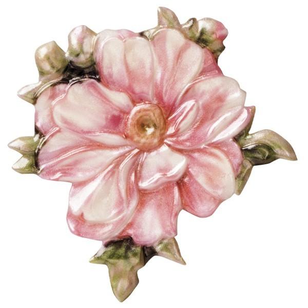 "Wachsornament ""Blüten de luxe"" 3, farbig, geprägt, 6-7cm"