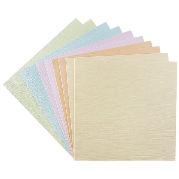 """Grußkarten """"Athen"""", 16cm x 16cm, Pastelltöne, inkl. Umschläge, 10 Stück"""