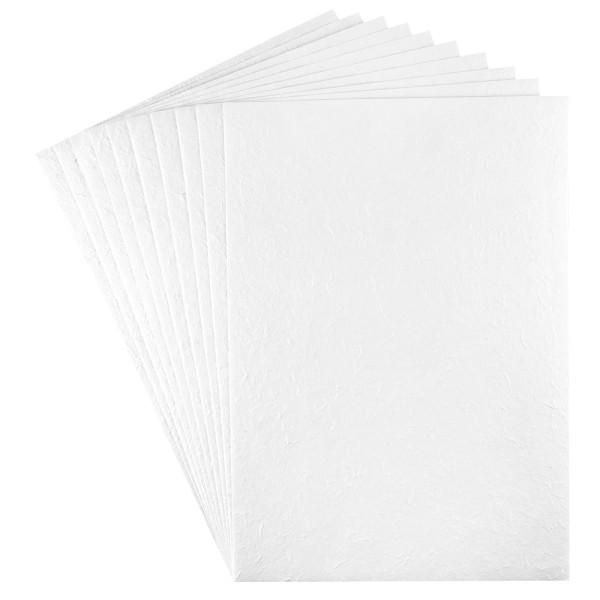 Maulbeerbaum-Papier, DIN A4, 120 g/m², weiß, 10 Bogen