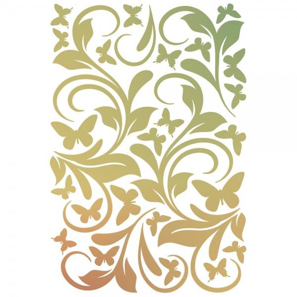 Folien-Bügeltransfer, Ornamente & Schmetterlinge, DIN A4, gold