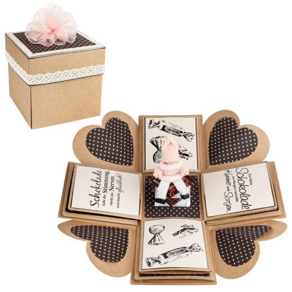 Kraftpapier-Überraschungsbox, 12,5cm x 12,5cm x 12,5cm, 300 g/m², 25-teilig