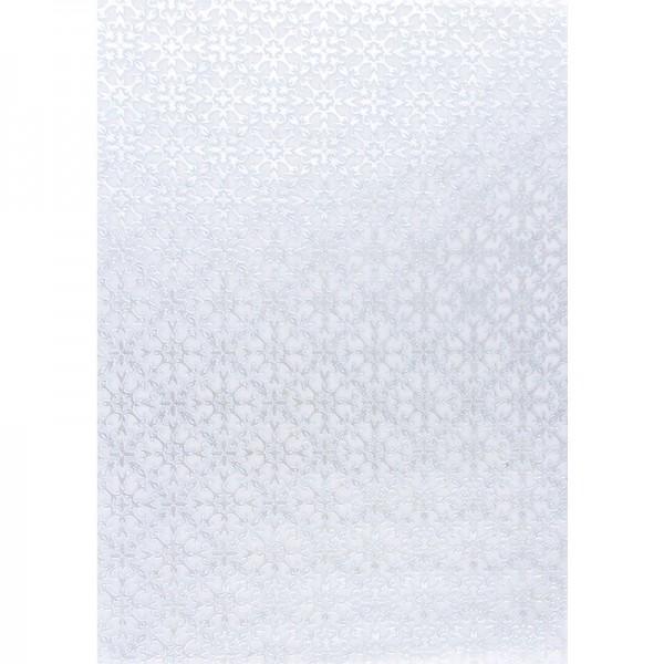 Transparentpapiere, Nova Noblesse 8, mit Top-Prägung & Perlmuttlack, DIN A4, 5 Bogen, taubenblau