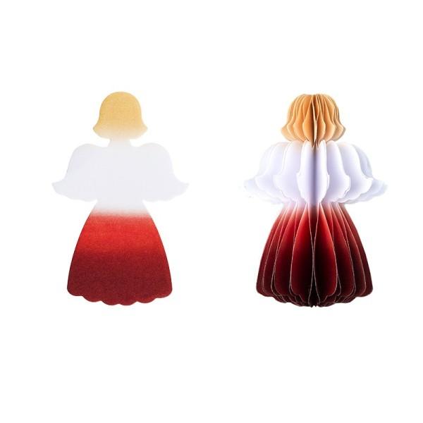 Waben-Stanzteile, Engel, mit Farbverlauf, 8cm x 4,5cm, 100 Stück