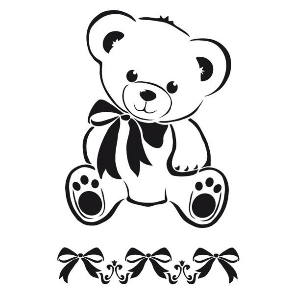 Laser-Kunststoff-Schablone, DIN A4, selbstklebend, Teddy