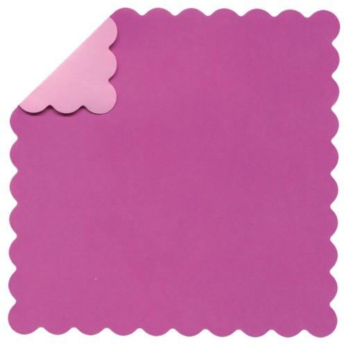 DuoColor Stanz-Faltpapiere, 13 x 13 cm, pink, Wellenrand, 60 Blatt