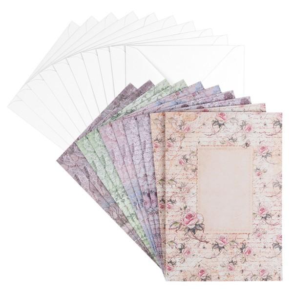 Motiv-Grußkarten, Blütentraum 2, B6, 230 g/m², 5 versch. Designs, inkl. Umschläge, 10 Stück