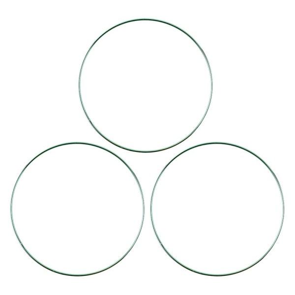 Metallringe, 3mm stark, Ø 20cm, grün, 3 Stück
