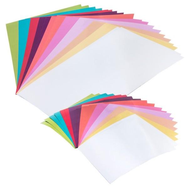 Spiegelkarton, verschiedene Farben & Größen, 130g/m², 100 Bogen